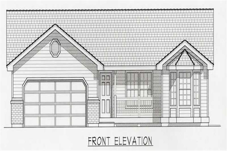3-Bedroom, 1321 Sq Ft Country Home Plan - 162-1026 - Main Exterior