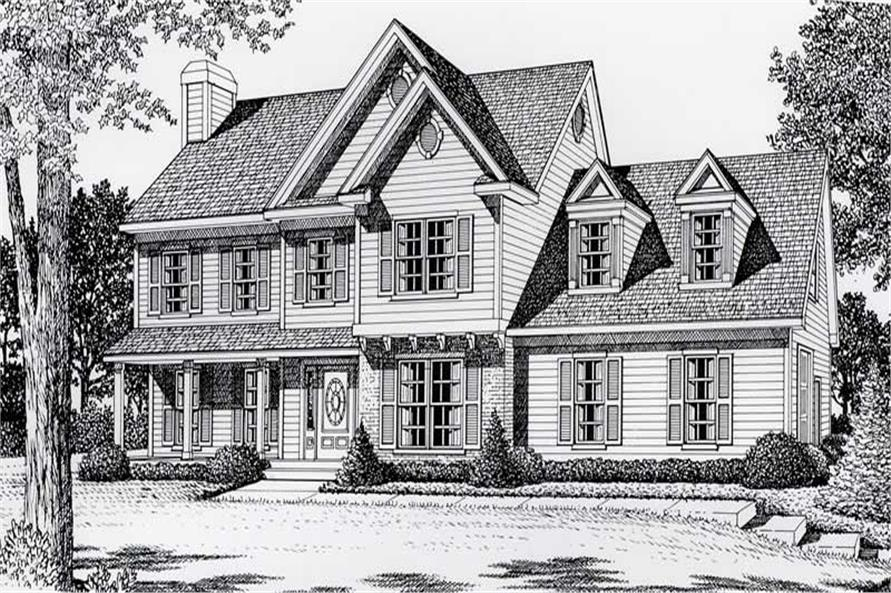 3-Bedroom, 2059 Sq Ft European Home Plan - 162-1028 - Main Exterior