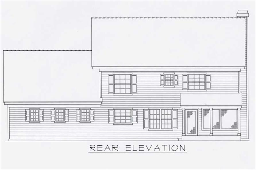Home Plan Rear Elevation of this 3-Bedroom,2059 Sq Ft Plan -162-1028