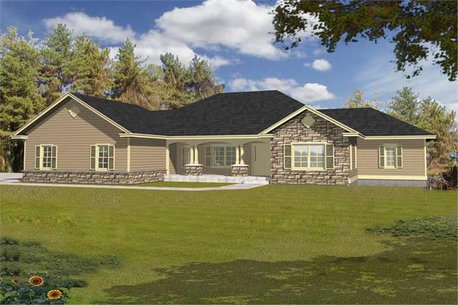 Main image for house plan # 18678