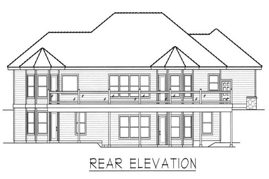 House Plan RDI-2113R1-DB Rear Elevation