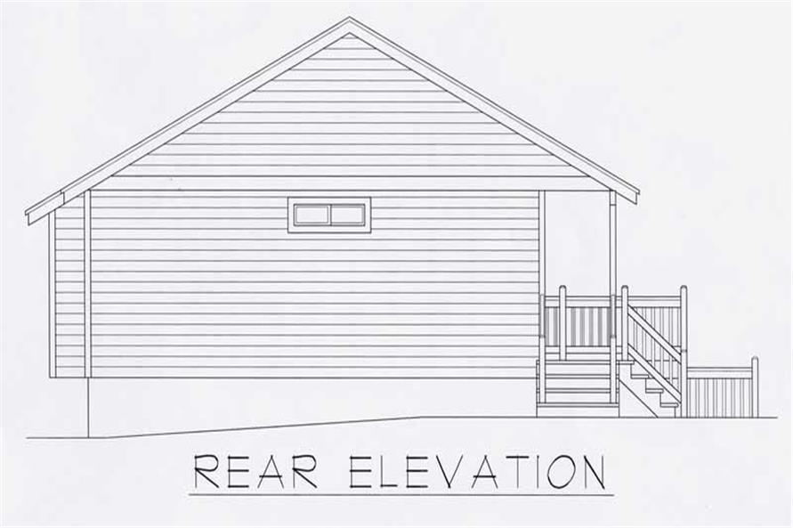 Home Plan Rear Elevation of this 4-Bedroom,2198 Sq Ft Plan -162-1030