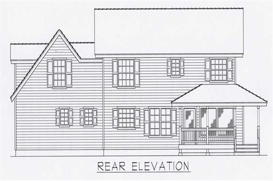 House Plan RDI-1840TS1-B Rear Elevation