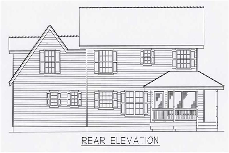 House Plan RDI-1840TS1-B Rear Elevation