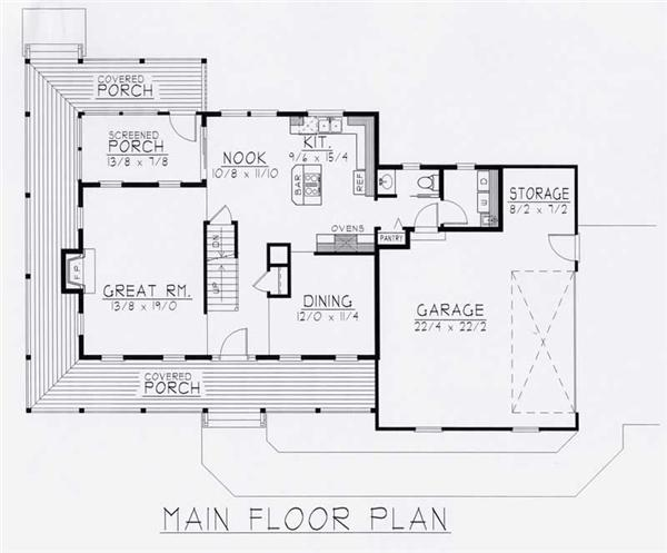 House Plan RDI-1840TS1-B Main Floor Plan