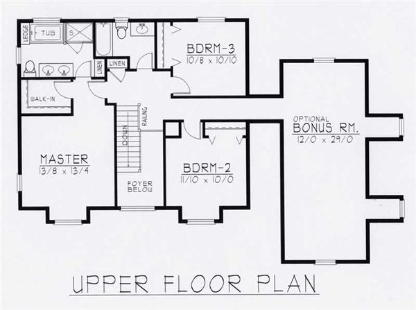 House Plan RDI-1840TS1-B Second Floor Plan