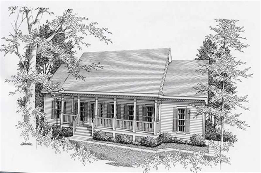 3-Bedroom, 1610 Sq Ft Ranch House Plan - 162-1033 - Front Exterior