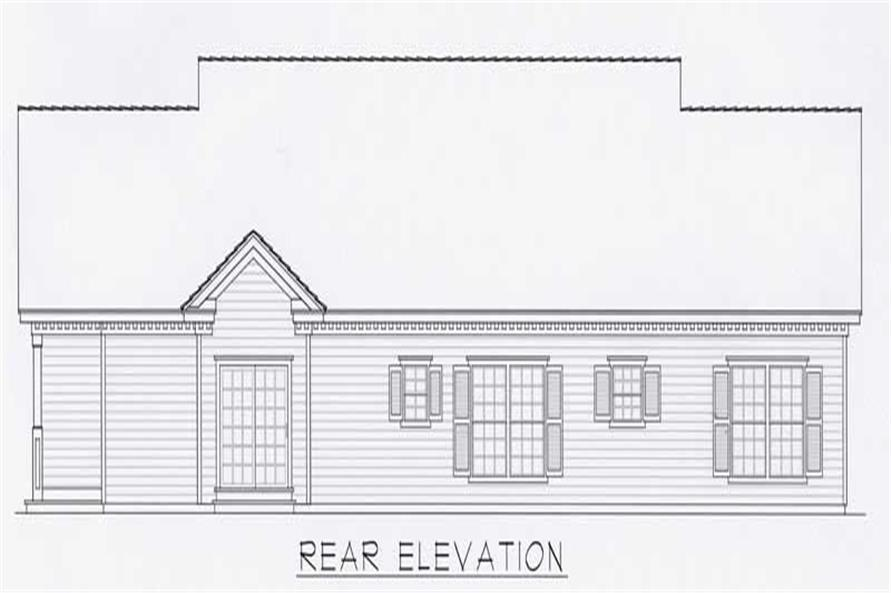Home Plan Rear Elevation of this 3-Bedroom,1610 Sq Ft Plan -162-1033