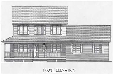4-Bedroom, 2218 Sq Ft Country Home Plan - 162-1034 - Main Exterior