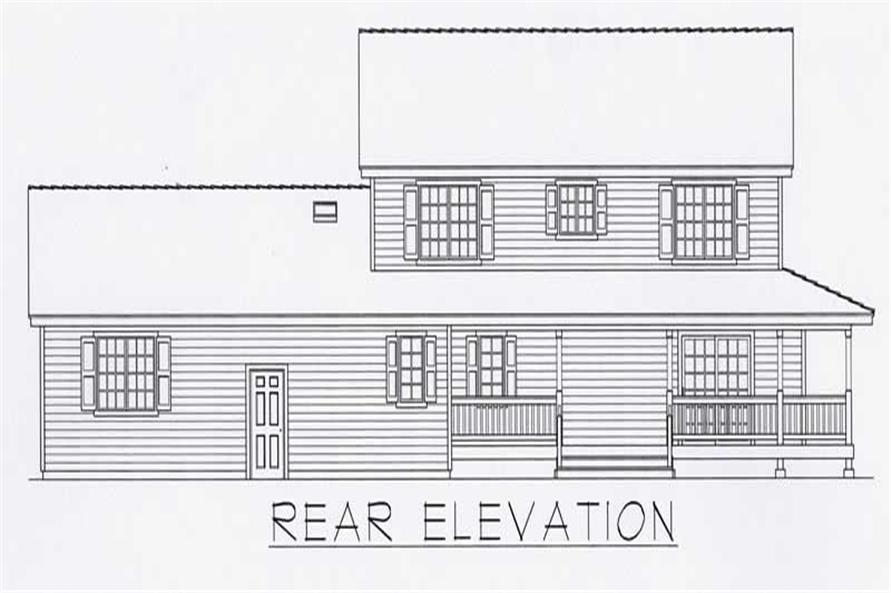 Home Plan Rear Elevation of this 4-Bedroom,2218 Sq Ft Plan -162-1034