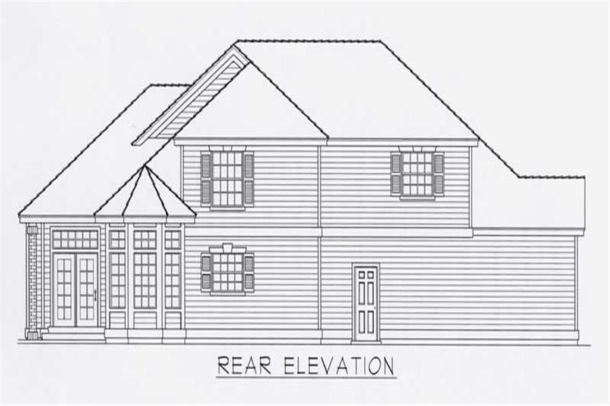 Home Plan Rear Elevation of this 3-Bedroom,2444 Sq Ft Plan -162-1035