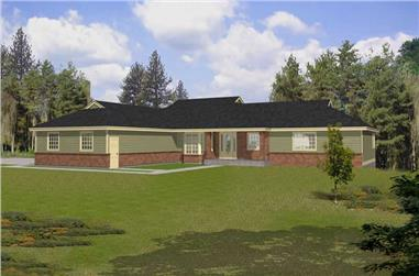 4-Bedroom, 3594 Sq Ft Contemporary House Plan - 162-1036 - Front Exterior