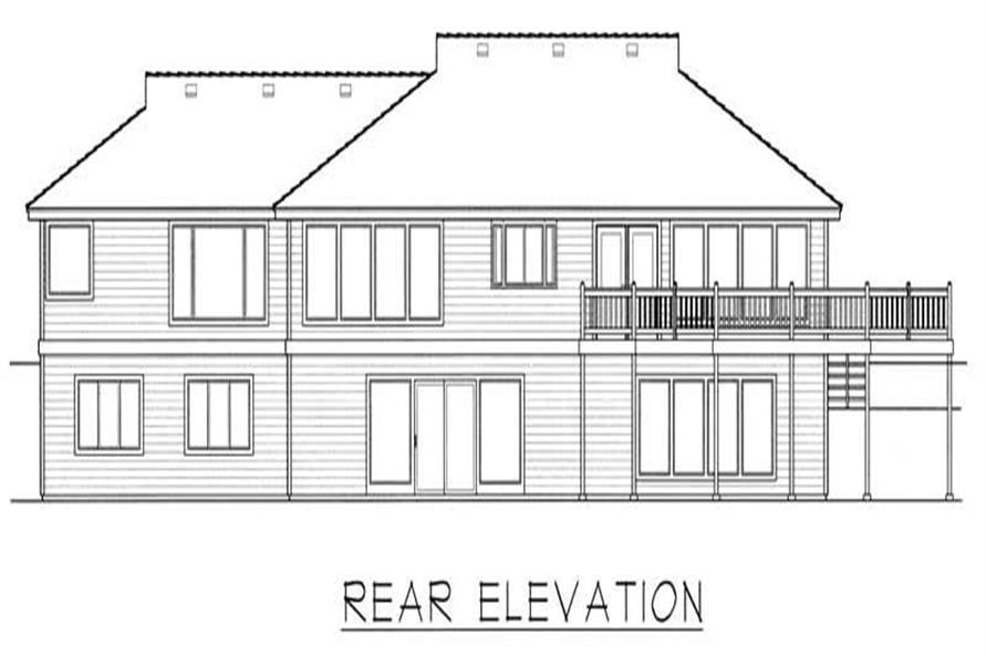 House Plan RDI-2320R1-DB Rear Elevation
