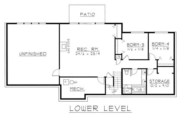 House Plan RDI-2320R1-DB Second Floor Plan