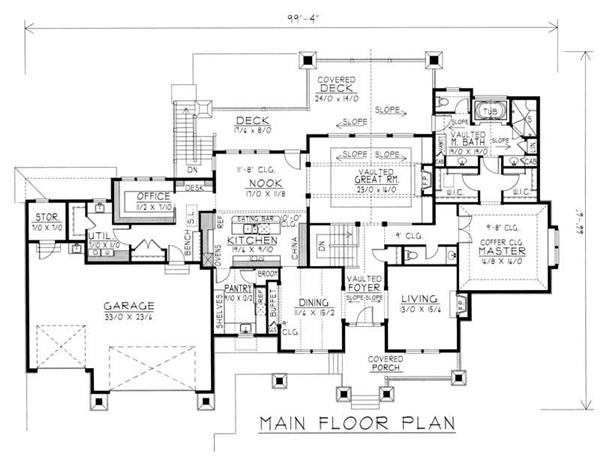 House Plan RDI-2846R1-DB Main Floor Plan
