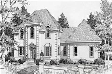 3-Bedroom, 2267 Sq Ft French Home Plan - 162-1038 - Main Exterior