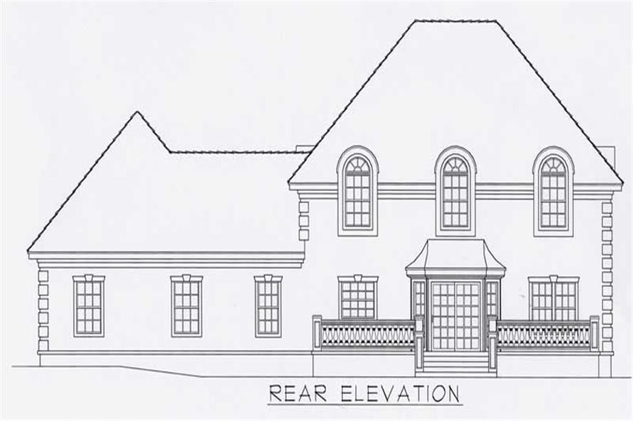 House Plan RDI-2267TS1-B Rear Elevation