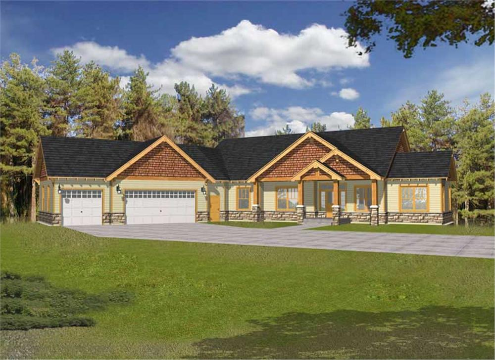 Craftsman home (ThePlanCollection: Plan #162-1039)