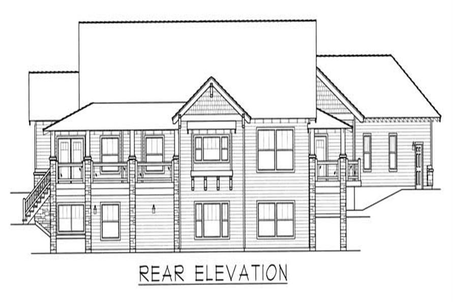 Home Plan Rear Elevation of this 4-Bedroom,4219 Sq Ft Plan -162-1039