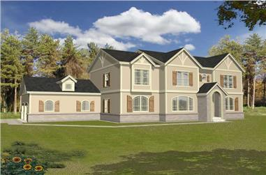3-Bedroom, 3015 Sq Ft Contemporary Home Plan - 162-1040 - Main Exterior