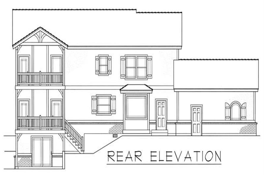 House Plan RDI-3015TS1-PB Rear Elevation