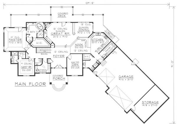 House Plan RDI-2907R1-DB Main Floor Plan