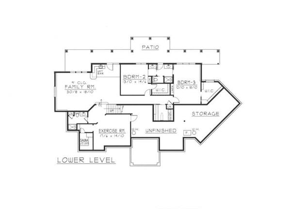 House Plan RDI-2907R1-DB Basement Floor Plan
