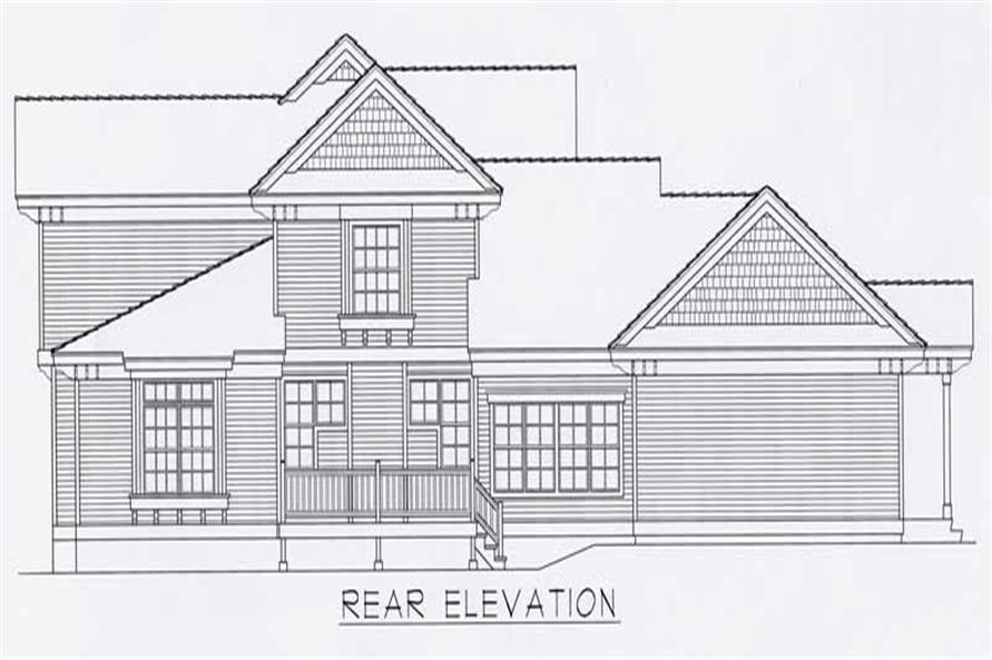 Home Plan Rear Elevation of this 4-Bedroom,2973 Sq Ft Plan -162-1042