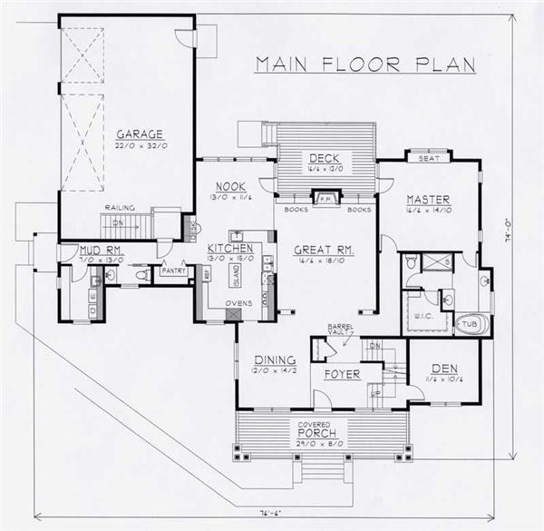 House Plan RDI-2970TS1-B Main Floor Plan