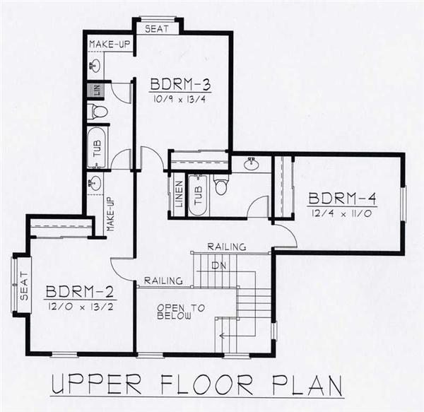 House Plan RDI-2970TS1-B Second Floor Plan