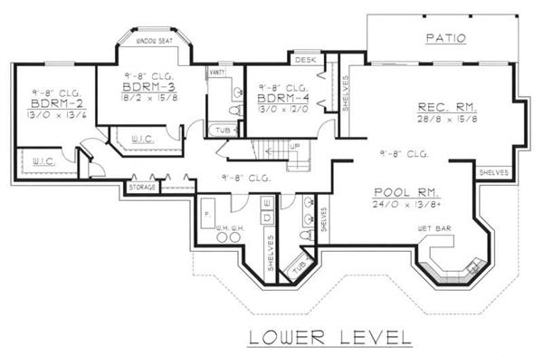 House Plan RDI-2560R1-DB Basement Floor Plan