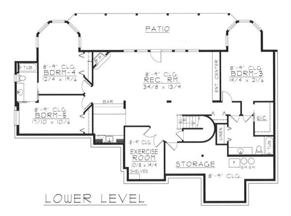 House Plan RDI-2485R1-DB Second Floor Plan