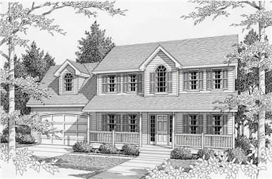 3-Bedroom, 2197 Sq Ft Country Home Plan - 162-1045 - Main Exterior