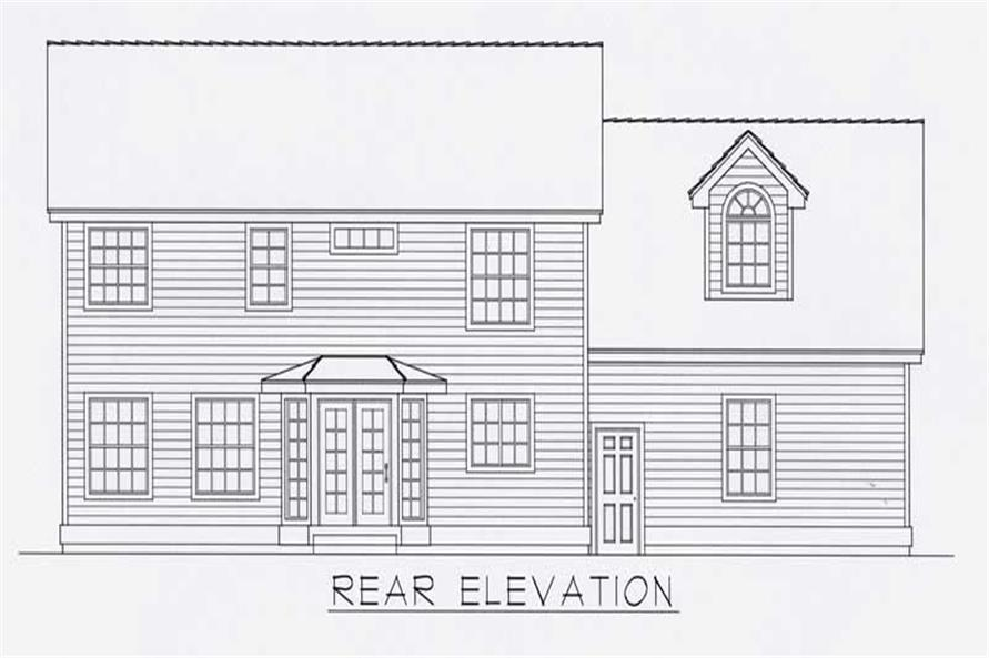 Home Plan Rear Elevation of this 3-Bedroom,2197 Sq Ft Plan -162-1045