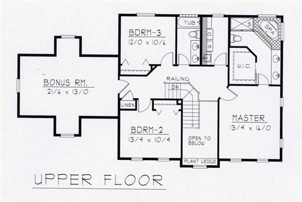 House Plan RDI-2197TS1-B Second Floor Plan