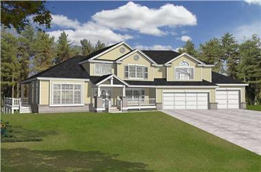 3-Bedroom, 2435 Sq Ft Contemporary House Plan - 162-1046 - Front Exterior