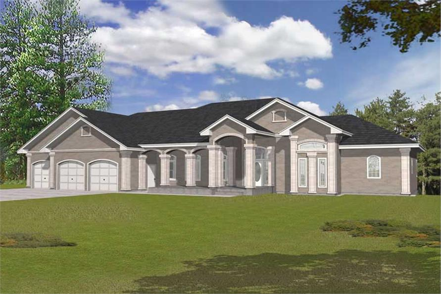 4-Bedroom, 4923 Sq Ft Contemporary Home Plan - 162-1047 - Main Exterior
