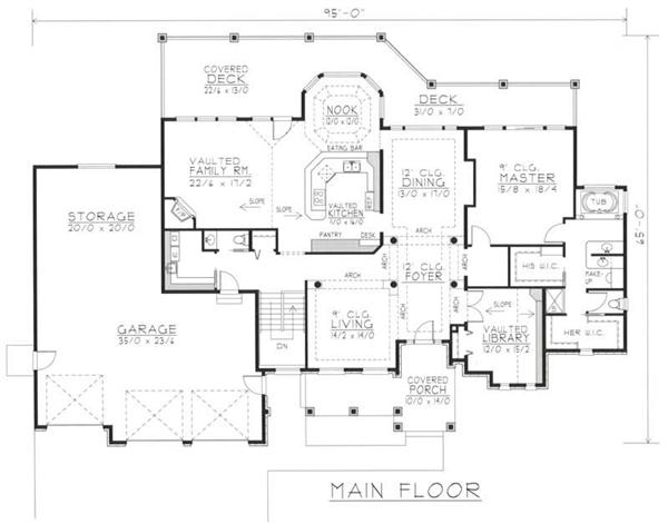 House Plan RDI-2724R1-DB Main Floor Plan