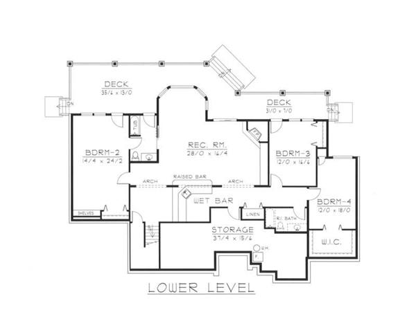 House Plan RDI-2724R1-DB Second Floor Plan