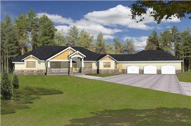 4-Bedroom, 4704 Sq Ft Contemporary Home Plan - 162-1048 - Main Exterior