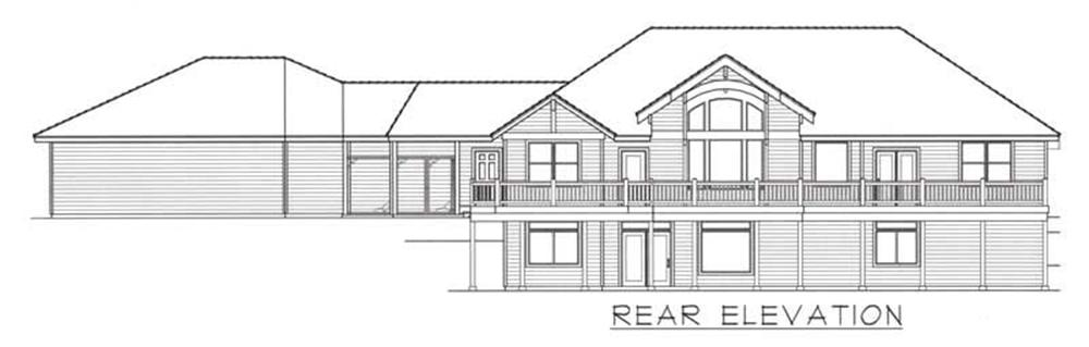 House Plan RDI-2610R1-DB Rear Elevation
