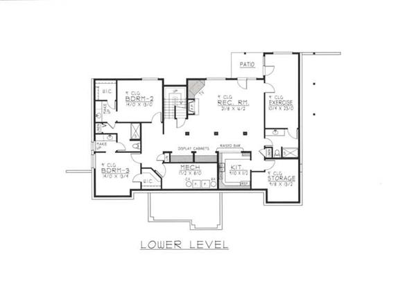 House Plan RDI-2610R1-DB Basement Floor Plan