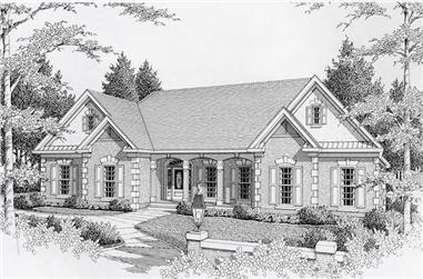 3-Bedroom, 2737 Sq Ft Contemporary House Plan - 162-1050 - Front Exterior