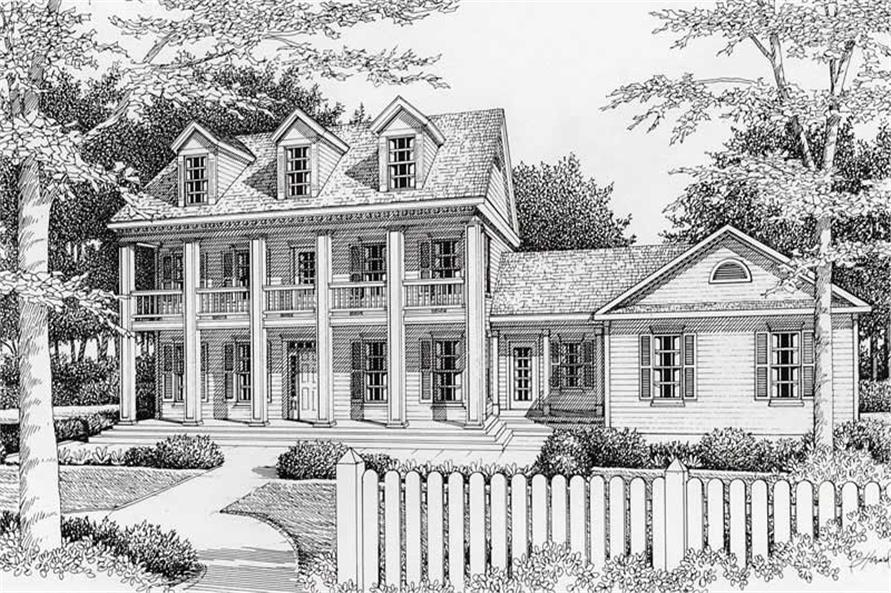 3-Bedroom, 2280 Sq Ft Southern Home Plan - 162-1051 - Main Exterior