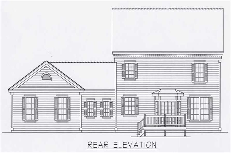 Home Plan Rear Elevation of this 3-Bedroom,2280 Sq Ft Plan -162-1051