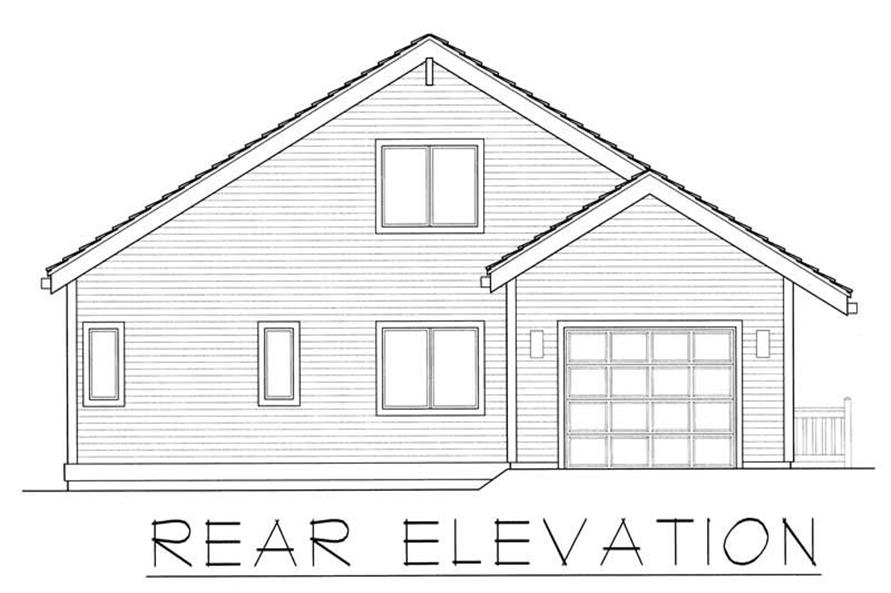 House Plan RDI-2313TS1-C Rear Elevation