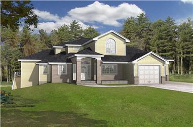 3-Bedroom, 2740 Sq Ft Contemporary House Plan - 162-1053 - Front Exterior