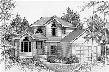 4-Bedroom, 2269 Sq Ft Contemporary Home Plan - 162-1054 - Main Exterior