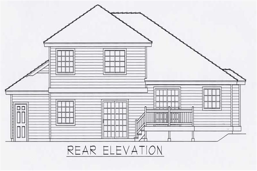 House Plan RDI-2269FL1-B Rear Elevation