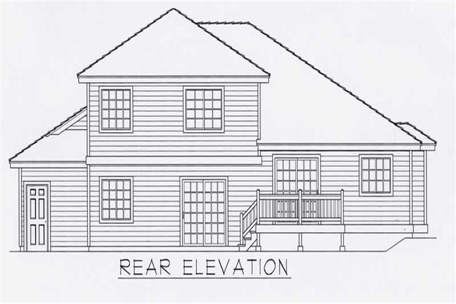 House Plan RDI-2269FL1-B Rear Elevation